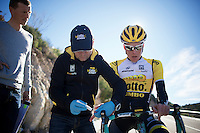 Steven Kruijswijk (NLD/LottoJumbo) undergoing a lactate fitness test<br /> <br /> Team Lotto Jumbo winter training camp<br /> Mojácar, Spain, January 2015