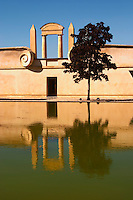 The newly built winery and pond at The Chateau Baron Pichon Longueville in Pauillac, Medoc, Bordeaux - Chateau Baron Pichon Longueville, Pauillac, Medoc, Bordeaux, Grand Cru