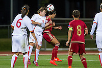 Montenegro's Maja Saranovic Spain's Barbara Latorre during the match of  European Women's Championship 2017 at Las Rozas, between Spain and Montenegro. September 15, 2016. (ALTERPHOTOS/Rodrigo Jimenez) /NORTEPHOTO