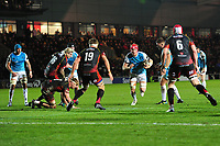 Sam Cross of Ospreys in action during the Guinness Pro14 round 12 match between the Dragons and the Ospreys at Rodney Parade in Newport, Wales, UK. Sunday 30 December 2018