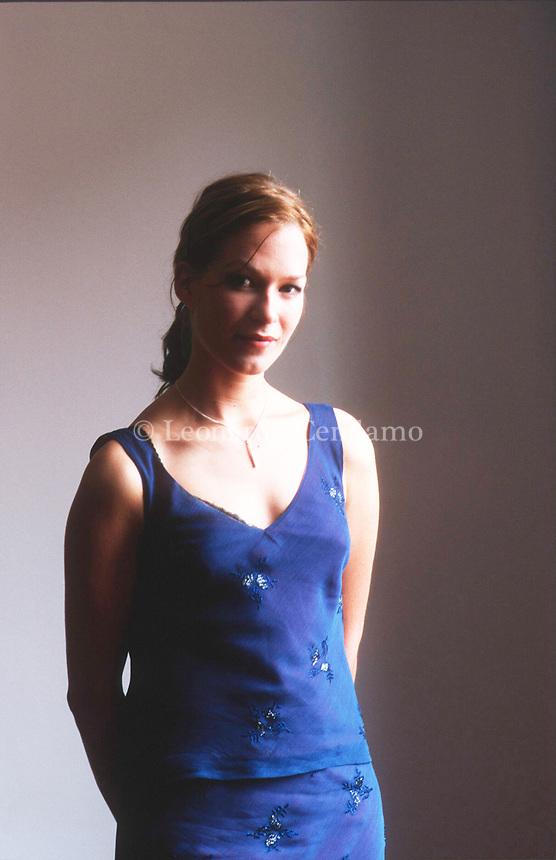 Franka Potente è un'attrice e cantante tedesca. Lido, 9 settembre 1998. Photo by Leonardo Cendamo/Getty Images