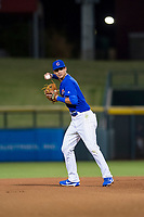 AZL Cubs shortstop Luis Vazquez (18) on defense during a game against the AZL Brewers on August 6, 2017 at Sloan Park in Mesa, Arizona. AZL Cubs defeated the AZL Brewers 8-7. (Zachary Lucy/Four Seam Images)