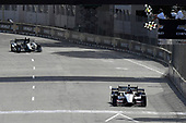 Verizon IndyCar Series<br /> Chevrolet Detroit Grand Prix Race 2<br /> Raceway at Belle Isle Park, Detroit, MI USA<br /> Sunday 4 June 2017<br /> Graham Rahal, Rahal Letterman Lanigan Racing Honda crosses the finish line under the checkered flag for the win.<br /> World Copyright: Scott R LePage<br /> LAT Images<br /> ref: Digital Image lepage-170604-DGP-11102