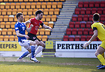 St Johnstone v Clyde…17.04.21   McDiarmid Park   Scottish Cup<br />Guy Melamed scores to make it 1-0<br />Picture by Graeme Hart.<br />Copyright Perthshire Picture Agency<br />Tel: 01738 623350  Mobile: 07990 594431