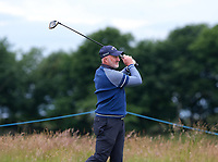 7th July 2021; North Berwick, East Lothian, Scotland; Former footballer Alan McInally during the Celebrity Pro-Am at the abrdn Scottish Open at The Renaissance Club, North Berwick, Scotland.