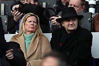 7th December 2019; The John Smiths Stadium, Huddersfield, Yorkshire, England; English Championship Football, Huddersfield Town versus Leeds United; legendary former Huddersfield Town player Frank Worthington looks on from the main stand - Strictly Editorial Use Only. No use with unauthorized audio, video, data, fixture lists, club/league logos or 'live' services. Online in-match use limited to 120 images, no video emulation. No use in betting, games or single club/league/player publications