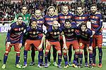 FC Barcelona's team photo with Claudio Bravo, Javier Mascherano, Ivan Rakitic, Jeremy Mathieu, Sergio Busquets, Gerard Pique, Leo Messi, Neymar Jr, Andres Iniesta, Luis Suarez and Sergi Roberto during La Liga match. March 3,2016. (ALTERPHOTOS/Acero)