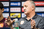 Guangzhou Evergrande FC head coach Luiz Felipe Scolari talks during Pre-Match Press Conference and Training Session prior to the AFC Champions League 2017 Quarter-Finals match between Shanghai SIPG (CHN) and Guangzhou Evergrande (CHN) at the Shanghai Stadium on 21 August 2017 in Shanghai, China. Photo by Yu Chun Christopher Wong / Power Sport Images