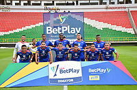 TUNJA -COLOMBIA, 14-10-2020.Jugadores de Deportivo Pasto posan para una foto previo al partido entre Patriotas Boyacá y el  Deportivo Pasto por la fecha 14 de la Liga BetPlay DIMAYOR I 2020 jugado en el estadio La Independencia de la ciudad de Tunja. / Players of Deportivo  Pasto  pose to a photo prior the match between Patriotas Boyaca  and Deportivo Pasto for the date 14 BetPlay DIMAYOR League I 2020 played at La Independencia  stadium in Tunja city: VizzorImage/  Edward Leguizamon / Contribuidor