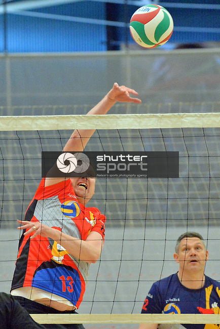 NELSON, NEW ZEALAND - SEPTEMBER 26: Volleyball at Saxton during the NZCT 2015 South Island Masters Games, September 26, 2015 in Nelson, New Zealand. (Photo by Barry Whitnall/Shuttersport Limited)
