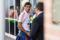Jack Cork arrives on the team bus before the Barclays Premier League match between Southampton v Swansea City played at St Mary's Stadium, Southampton
