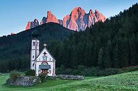 St. Johann chapel in St. Maddalena, Italy