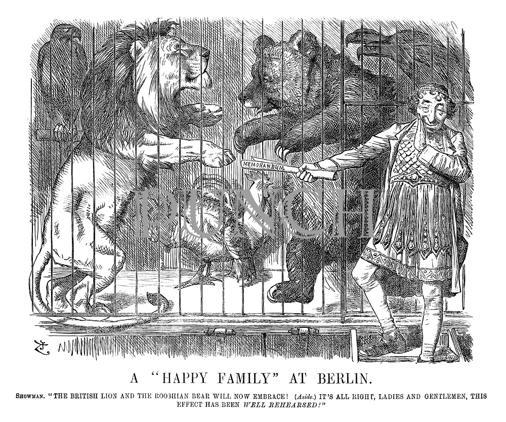 A Happy Family At Berlin Punch Magazine Cartoon Archive