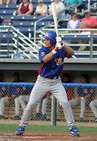 August 15, 2003:  Third baseman Kory Castro of the Vermont Expos, Short Season Class-A affiliate of the Montreal Expos, during a NY-Penn League game at Dwyer Stadium in Batavia, NY.  Photo by:  Mike Janes/Four Seam Images