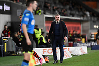 26th May 2021; Bankwest Stadium, Parramatta, New South Wales, Australia; A League Football, Western Sydney Wanderers versus Wellington Phoenix; Ufuk Talay coach of Wellington Phoenix challenges a decision with the assistant referee