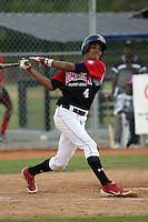Adrian Valerio participates in the Dominican Prospect League showcase at the New York Yankees academy on January 19,2013 in Boca Chica, Dominican Republic.