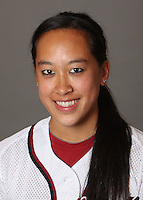STANFORD, CA - OCTOBER 29:  Ashley Chinn of the Stanford Cardinal softball team poses for a headshot on October 29, 2009 in Stanford, California.