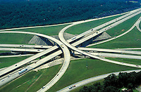 Aerial view of interstate interchange in Alabama. Alabama United States.