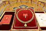 The Order of Golden Fleece (Toison de Oro) detail are displayed at the Royal Palace. January 30,2018. (ALTERPHOTOS/Pool)