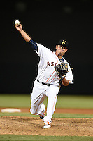 Salt River Rafters pitcher Tyson Perez (50) during an Arizona Fall League game against the Scottsdale Scorpions on October 8, 2014 at Salt River Fields at Talking Stick in Scottsdale, Arizona.  Scottsdale defeated Salt River 7-4.  (Mike Janes/Four Seam Images)