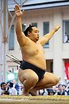 Kakuryu, <br /> APRIL 17, 2017 - Sumo : Yasukuni Shrine Honozumo is a ceremonial annual sumo tournament held in the precincts of the Yasukuni Shrine in Tokyo, Japan. (Photo by Yohei Osada/AFLO SPORT)