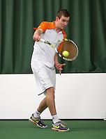 18-01-14,Netherlands, Rotterdam,  TC Victoria, Wildcard Tournament,    Milco Trampe (NED)<br /> Photo: Henk Koster
