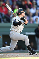 First baseman Matt Williams (48) of the South Carolina Gamecocks bats in the Reedy River Rivalry game against the Clemson Tigers on Saturday, March 3, 2018, at Fluor Field at the West End in Greenville, South Carolina. Clemson won, 5-1. (Tom Priddy/Four Seam Images)