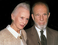 Hume Cronyn and Jessica Tandy 1990<br /> Photo By John Barrett/PHOTOlink
