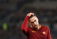 Calcio, Serie A: Roma vs Fiorentina. Roma, stadio Olimpico, 7 febbraio 2017.<br /> Roma's Kevin Strootman reacts during the Italian Serie A soccer match between Roma and Fiorentina at Rome's Olympic stadium, 7 February 2017.<br /> UPDATE IMAGES PRESS/Riccardo De Luca