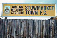Greens Meadow Stadium, home of Stowmarket Town FC (Suffolk), pictured in November 1996 - Gavin Ellis/TGSPHOTO - Self billing applies where appropriate - 0845 094 6026 - contact@tgsphoto.co.uk - NO UNPAID USE..