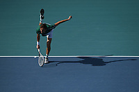 MIAMI GARDENS, FL - MARCH 30: Daniil Medvedev Vs Frances Tiafoe at the 2021Miami Open at Hard Rock Stadium on March 30, 2021 in Miami Gardens, Florida. <br /> CAP/MPI04<br /> ©MPI04/Capital Pictures