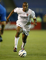 8 May 2004:  MetroStars Eddie Pope in action against Earthquakes at Spartan Stadium in San Jose, California.  Earthquakes and MetroStars are tied at 5-5.Mandatory Credit: Michael Pimentel/ISI