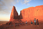 Visitors at Artist's Point, Monument Valley, Arizona, USA