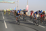 The bunch cross the finish line of  Stage 1 of the Tour of Qatar 2012 running 142.5km from Barzan Towers to Doha Golf Club, Doha, Qatar. 5th February 2012.<br /> (Photo by Eoin Clarke/NEWSFILE).