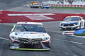 #11: Denny Hamlin, Joe Gibbs Racing, Toyota Camry FedEx Freight, #36: Matt Tifft, Front Row Motorsports, Ford Mustang Louis Kemp Crab Delights