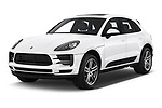 2019 Porsche Macan Base 5 Door SUV angular front stock photos of front three quarter view