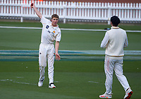 Luke Georgeson during day two of the Plunket Shield men's cricket match between Wellington Firebirds and Northern Districts at the Basin Reserve in Wellington, New Zealand on Sunday, 28 March 2021. Photo: Dave Lintott / lintottphoto.co.nz