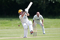 O Sarkar in batting action for Billericay during Billericay CC (batting) vs Hornchurch CC, Hamro Foundation Essex League Cricket at the Toby Howe Cricket Ground on 12th June 2021