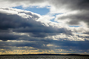 Sebago Lake during the autumn months located in Casco, Maine USA  which is part of New England....Sebago Lake is the deepest and second largest lake in the state of Maine