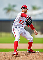 22 February 2019: Washington Nationals pitcher Sean Doolittle on the mound during a Spring Training workout at the Ballpark of the Palm Beaches in West Palm Beach, Florida. Mandatory Credit: Ed Wolfstein Photo *** RAW (NEF) Image File Available ***