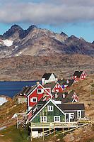 Town of Tasiilaq on Ammassalik Island, East Greenland