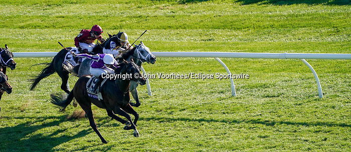 November 7, 2020 : Order of Australia, ridden by Pierre-Charles Boudot, wins the FanDuel Mile presented by PDJF on Breeders' Cup Championship Saturday at Keeneland Race Course in Lexington, Kentucky on November 7, 2020. John Voorhees/Breeders' Cup/Eclipse Sportswire/CSM