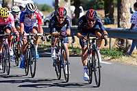 4th September 2020; Millau to Lavaur, France. Tour de France cycling tour, stage 7;  Jonathan Castroviejo ESP - IneGrenadiers - Michal Kwiatkowski POL - IneGrenadiers CYCLISME
