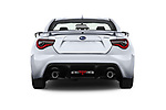 Straight rear view of a 2017 Subaru BRZ Sport Premium 2 Door Coupe stock images