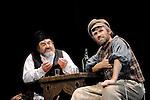 UN VIOLON SUR LE TOIT..Auteur : STEIN Joseph..Adaptateur : LAPORTE Stephane..Mise en scene : DESCHAUX Jeanne..Decor : TAPIERMAN Serge..Avec :..WILMET Alain:TEVYE le laitier..ABURBE Robert:LAZAR WOLF le boucher..Lieu : Le Palace..Ville : Paris..Le : 18 02 2010..© Laurent PAILLIER / photosdedanse.com..All rights reserved