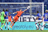 Fabio Quagliarella of UC Sampdoria scores the goal of 1-0 during the Serie A football match between UC Sampdoria and SS Lazio at stadio Marassi in Genova (Italy), October 17th, 2020. <br /> Photo Image Sport / Insidefoto