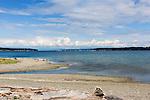 Penn Cove, Whibey Island, Washington.  Viewed toward Coupeville, Washington.
