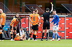 Dundee United v St Johnstone…..01.08.20   Tannadice  SPFL<br />Michael O'Halloran is booked for a tackle on<br />Picture by Graeme Hart.<br />Copyright Perthshire Picture Agency<br />Tel: 01738 623350  Mobile: 07990 594431