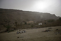 Wednesday 15 July, 2015: Villagers are seen in Dammaj village at the east of Sa'dah city, the stronghold of the Houthi's movement in Yemen. (Photo/Narciso Contreras)