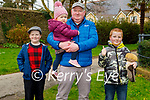Enjoying a stroll in the Tralee town park on Sunday, l to r: Ethan and Cian O'Leary, Faye Carmody and Dinny O'Leary.
